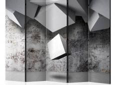 Paraván - Geometric rain II [Room Dividers]